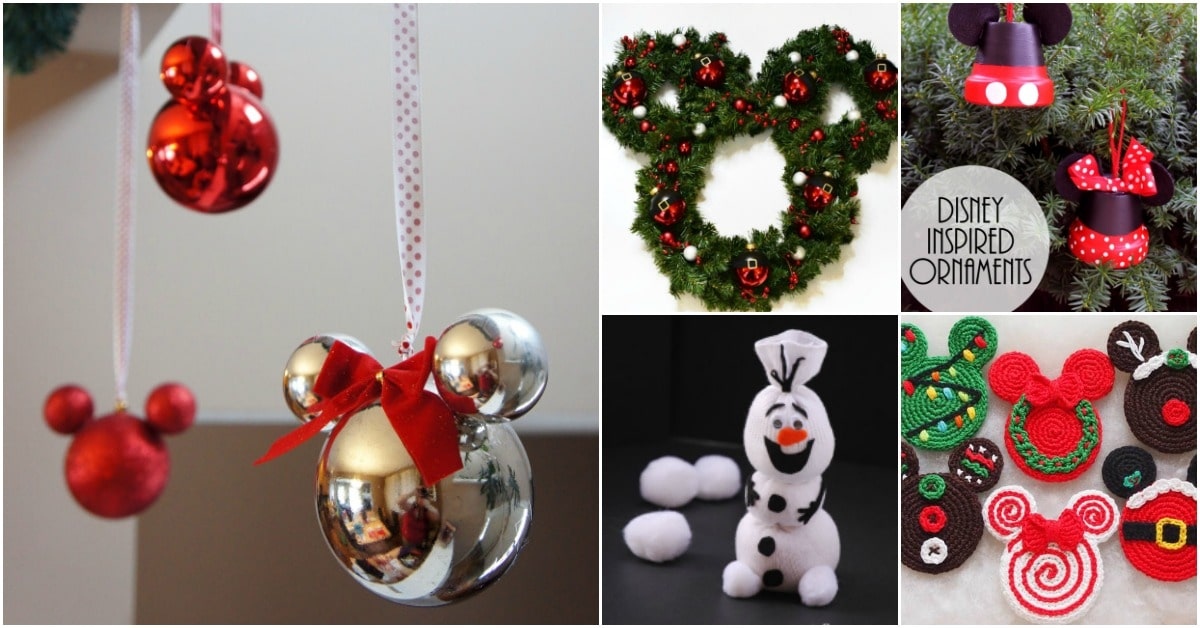 a9341caf31b17 20 Creative DIY Disney Christmas Ornaments Anyone Can Do - DIY & Crafts
