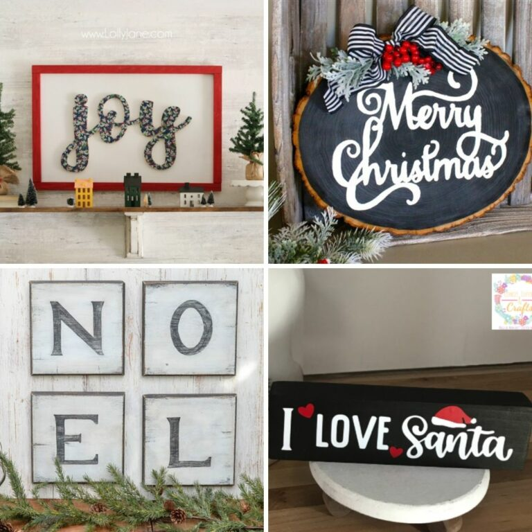 Christmas signs collage