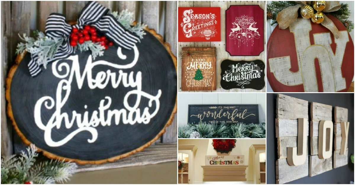 20 Unique Diy Wooden Signs For Christmas Decorating Diy