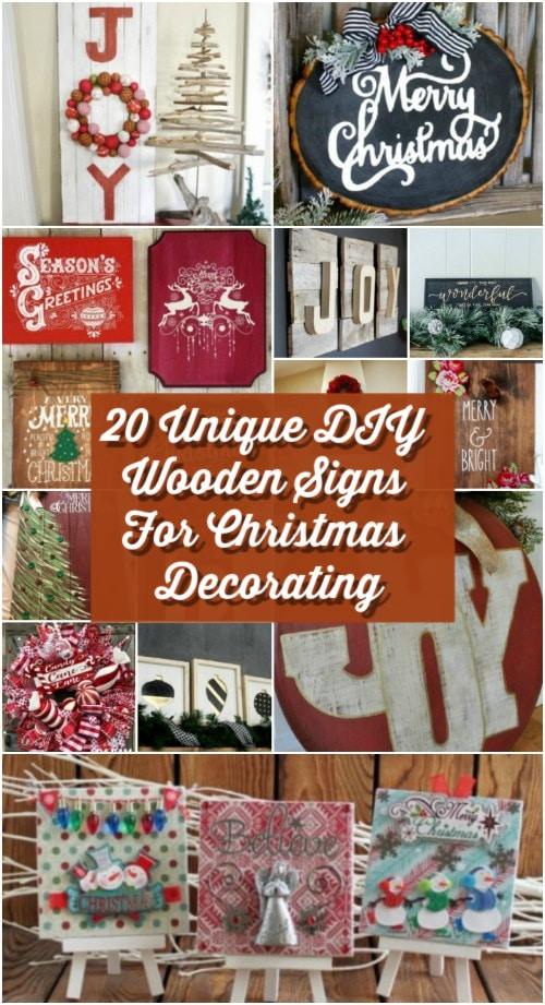 20 Unique DIY Wooden Signs For Christmas Decorating - DIY ...