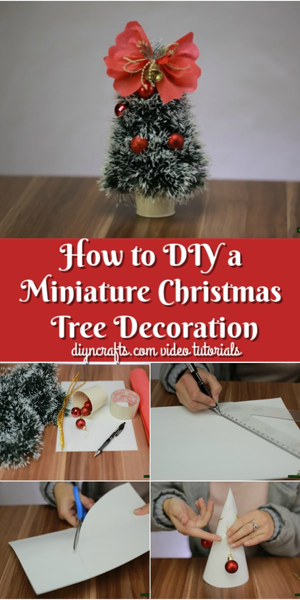 How To Diy A Miniature Christmas Tree Decoration Video Tutorial Diy Crafts