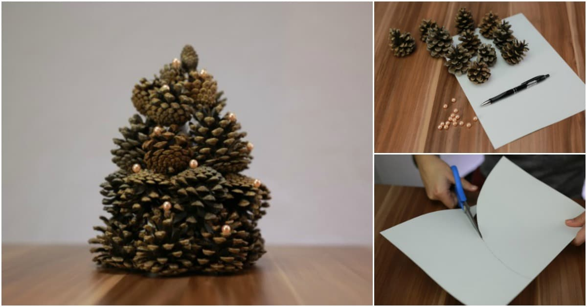 Diy Cone Christmas Trees.How To Make A Gorgeous Christmas Tree Out Of Pinecones Diy Crafts