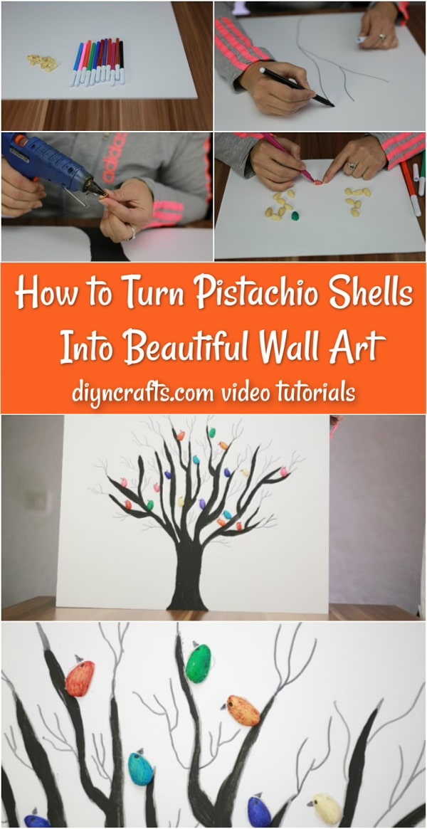 Gorgeous DIY Pistachio Shell Wall Art