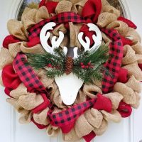 Rustic deer wreath