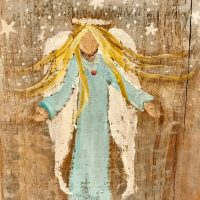 CUSTOM ANGEL painting or ornament on wood