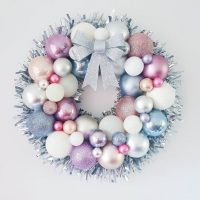 Christmas Unicorn Inspired Bauble Wreath