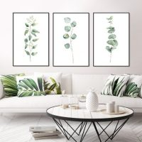 Eucalyptus print, large wall art
