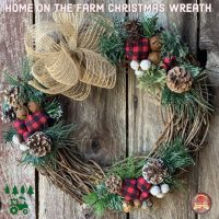 Home on the Farm Christmas Wreath.