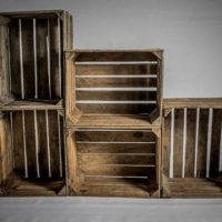 Beautiful Wooden Crates Storage Box Fruit Crates Box Shabby Chic x 1