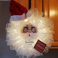 Santa Claus Wreath light up