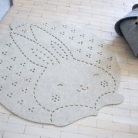Bunny Rug /Playmat /Kids Room Rug