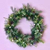 Large mixed foliage Christmas wreath