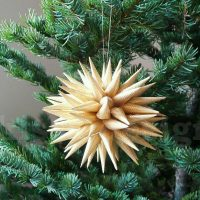 Retro Paper Star Christmas Holiday Ornament