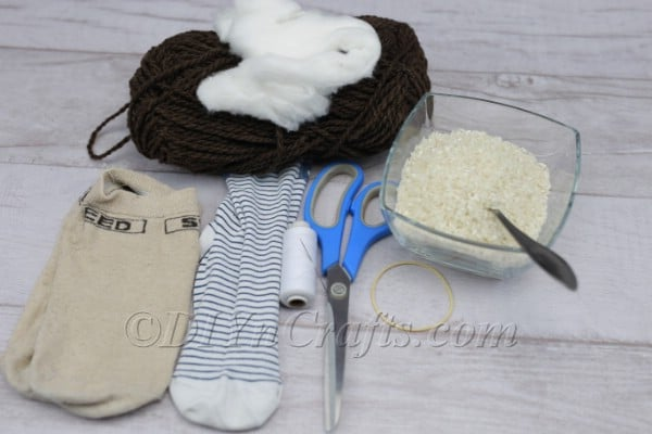 Sock gnome materials.