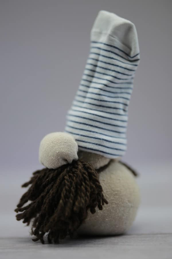 How to Turn a Sock Full of Rice Into a Scandinavian Christmas Gnome