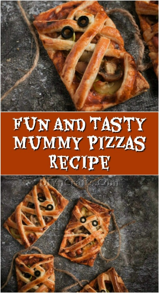 Fun And Tasty Mummy Pizzas Recipe