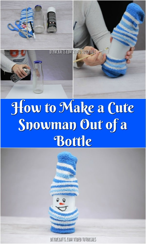 How to Make a Cute Snowman Out of a Bottle