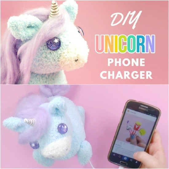 DIY Unicorn Plushie iPhone Charger
