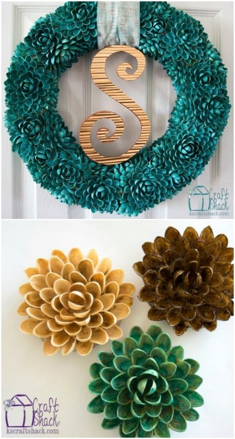 Reused Pistachio Shell Wreath