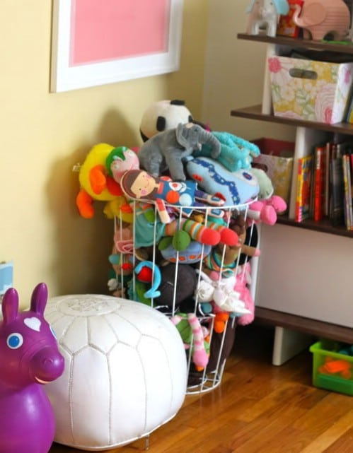 Wire Hamper Stuffed Animal Storage