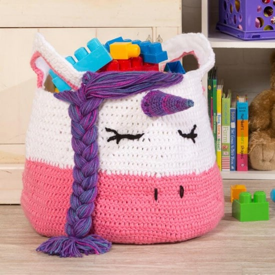 Easy Crochet Unicorn Yarn Bag