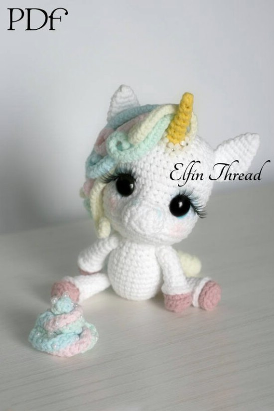 Crochet Stuffed Unicorn Pattern