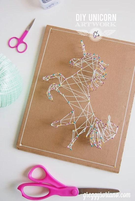 DIY Unicorn String Art