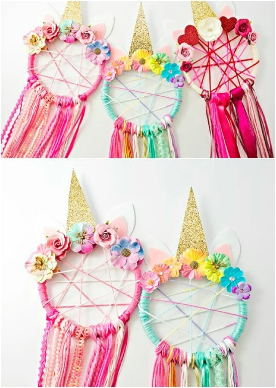 Easy DIY Unicorn Dreamcatchers