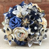 Paper Flower Bouquet with book pages and color of your choosing.