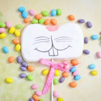 Easter Bunny Face Cookies