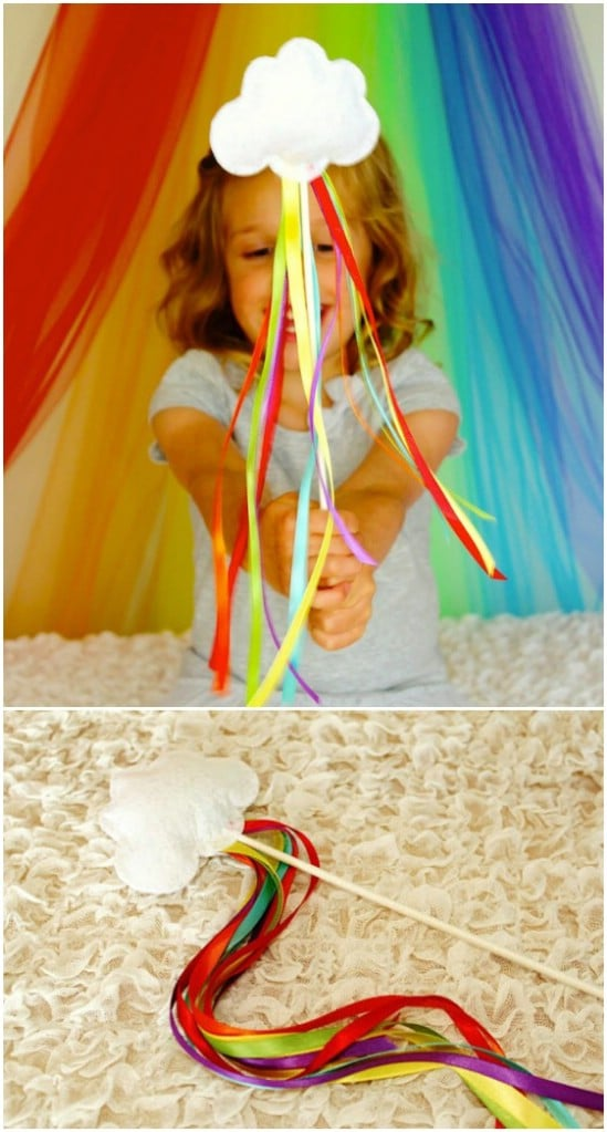 DIY No Sew Rainbow Unicorn Wands