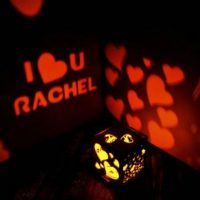 Bedside lamp with love led sign for girlfriend