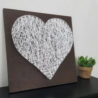 Wood Heart Sign