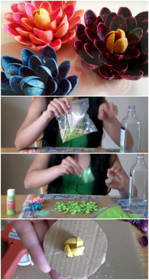 DIY Pistachio Lotus Flowers
