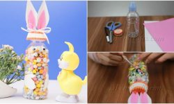 How to Make a Cute Easter Bunny Candy Bottle {Video Tutorial}