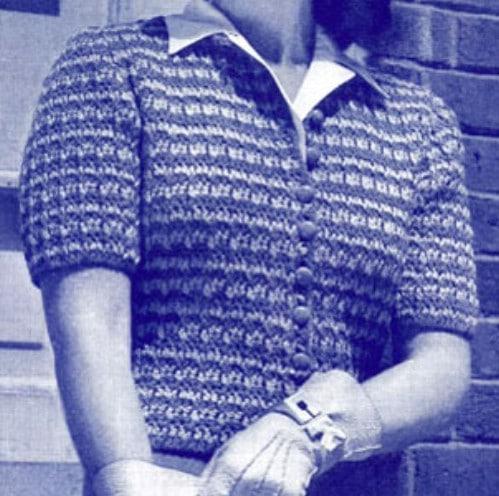 Short Sleeved Americana Cardigan