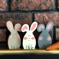 Easter Bunny - Handpainted Spring Decor