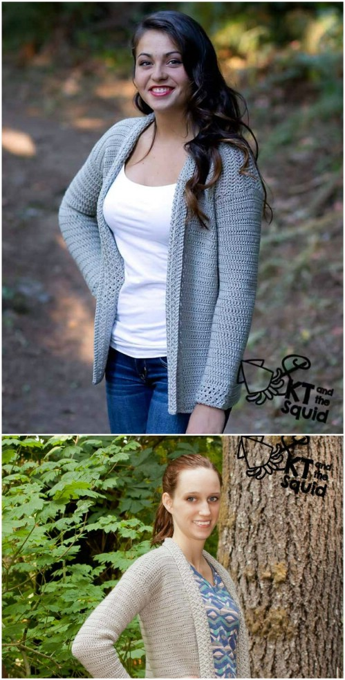 Simple Open Front Crochet Cardigan
