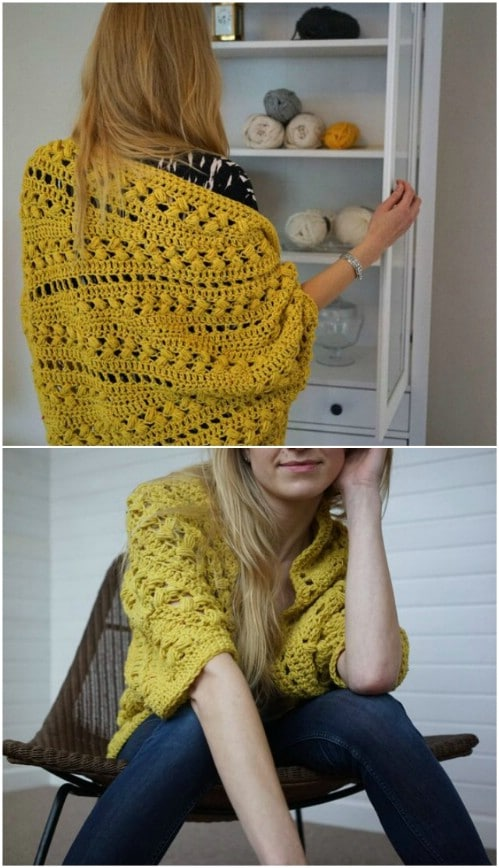 Gorgeous Crochet Slouch Cardigan
