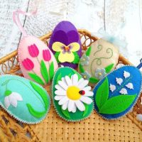 Easter eggs ornaments