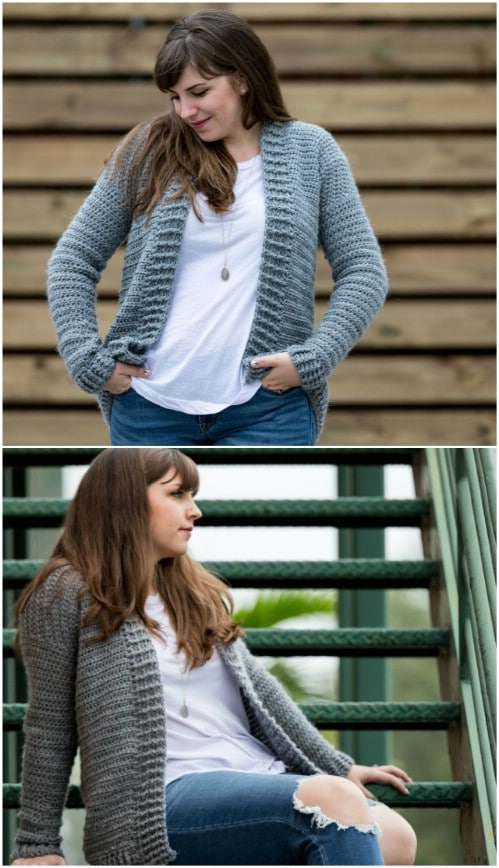 Simple Everyday Crochet Cardigan