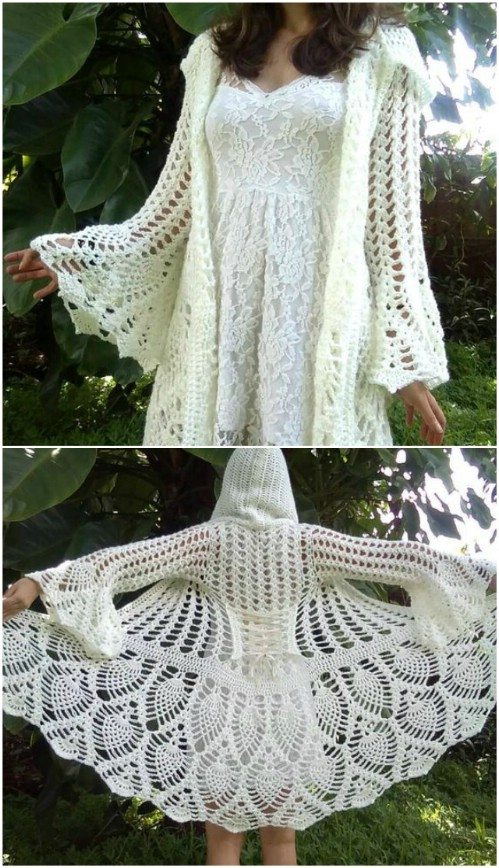 Pineapple Crochet Fairy Queen Coat