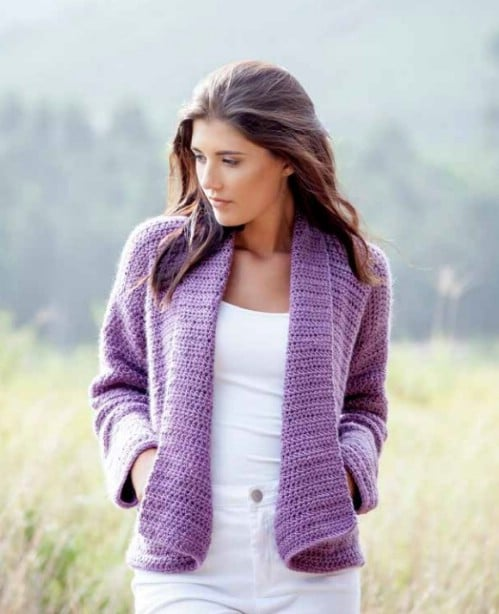 Comfy Pocketed Crochet Cardigan