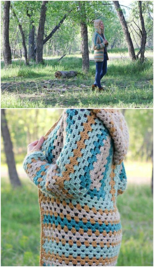 Crocheted Campfire Cardigan