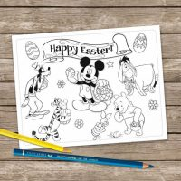Mickey Mouse Digital Easter Coloring Pages