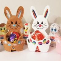 Easter Bunny Felt Egg Holder