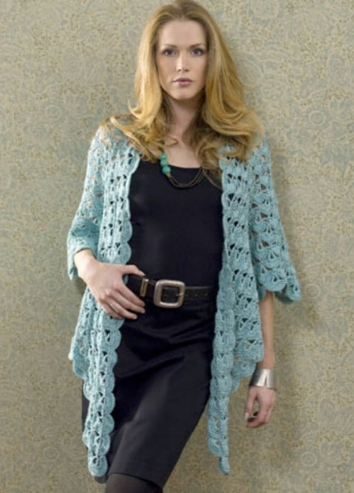 Crocheted Zen Cardigan Jacket