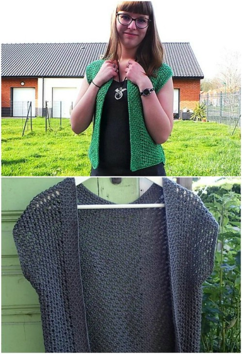 Fast And Easy Crocheted Shrug