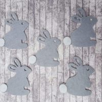 Felt Die Cut Bunny Rabbit Shapes