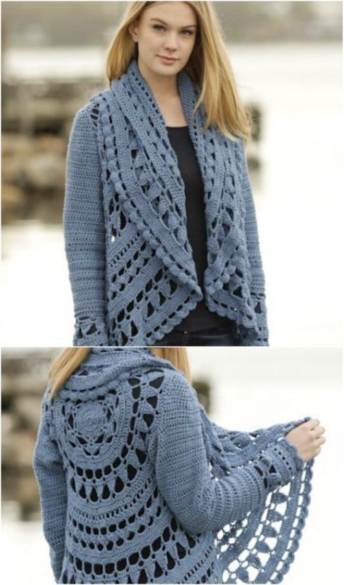 Sea Glass Crochet Lace Jacket